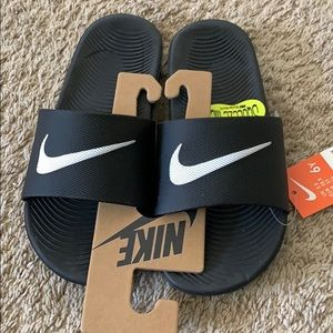 Nike Kids Kawa Slide Sandals Black/White